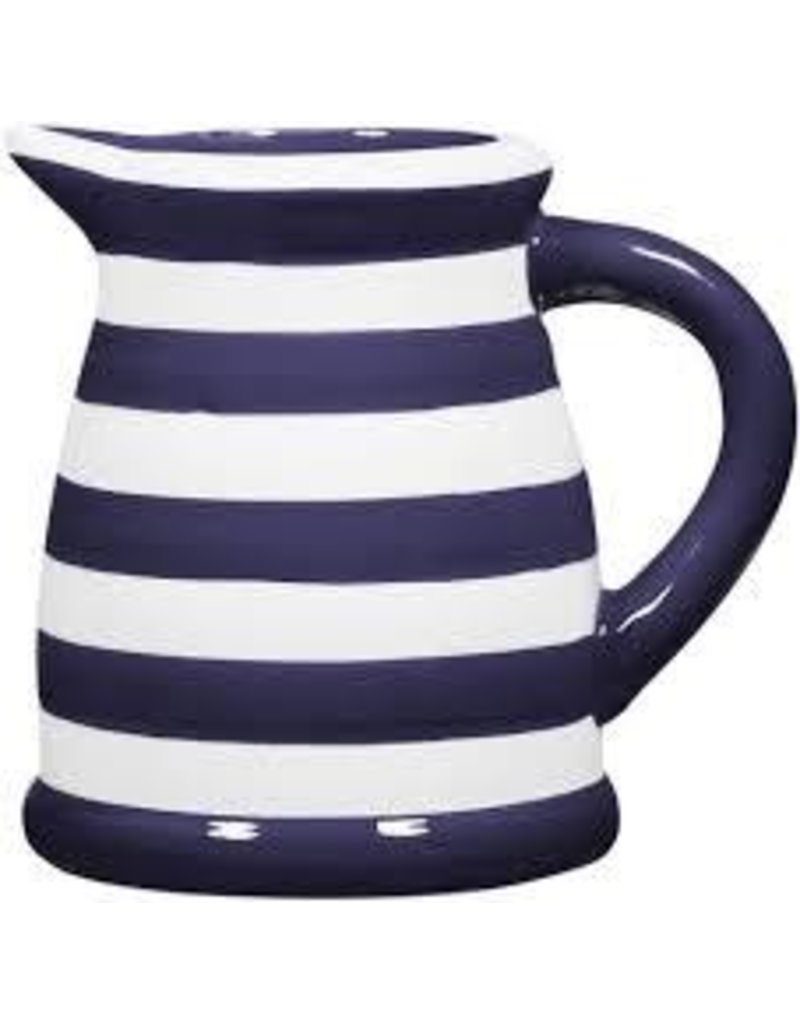 Home Essentials Pitcher - Indigo/ Wht Stripe 124oz.