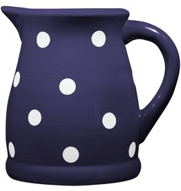 Home Essentials Small Pitcher- Indigo/ wht dots 22oz.