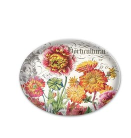 MICHEL DESIGN WORKS Blooms and Bees Glass Soap Dish