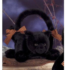 Bearington Collection Jinx Black Cat Halloween Basket