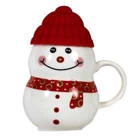 UMA ENTERPRISES INC. 11 oz Snowman Mug Red - MCBK