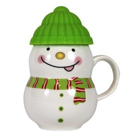 UMA ENTERPRISES INC. 11 oz. Snowman Mug Green - MCBK