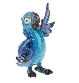 Blue Fun Standing Parrot