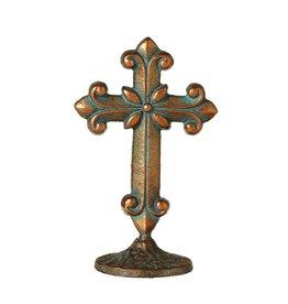 UMA ENTERPRISES INC. Short Patina Cross on Stand (style b)