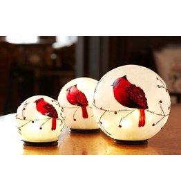 MelRose LED Cardinal globes S/3