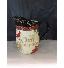 Certified International Corp Poinsettia Pitcher 2.5 qt.