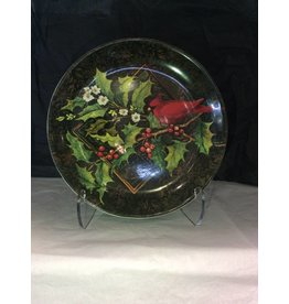 Certified International Corp Christmas Cardinals Round Platter