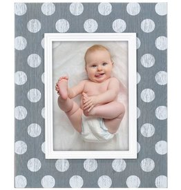 Malden 5x7 Polka Dot Gray & White Frame