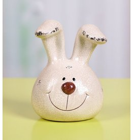 Transpac Bunny Head Figurine