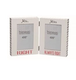 Transpac Folding Frame - MR RIGHT/ MRS ALWAYS RIGHT