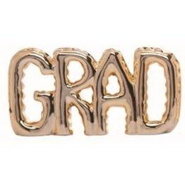 Transpac Gold Balloon Letter Decor - GRAD