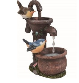 Transpac Birds on water pump Figurine 2