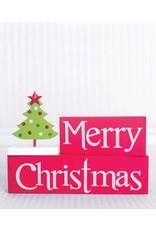 ADAMS & CO. MERRY CHRISTMAS w/Tree Block Set