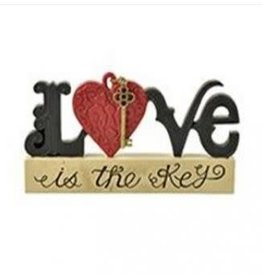 LOVE on Block w/Key