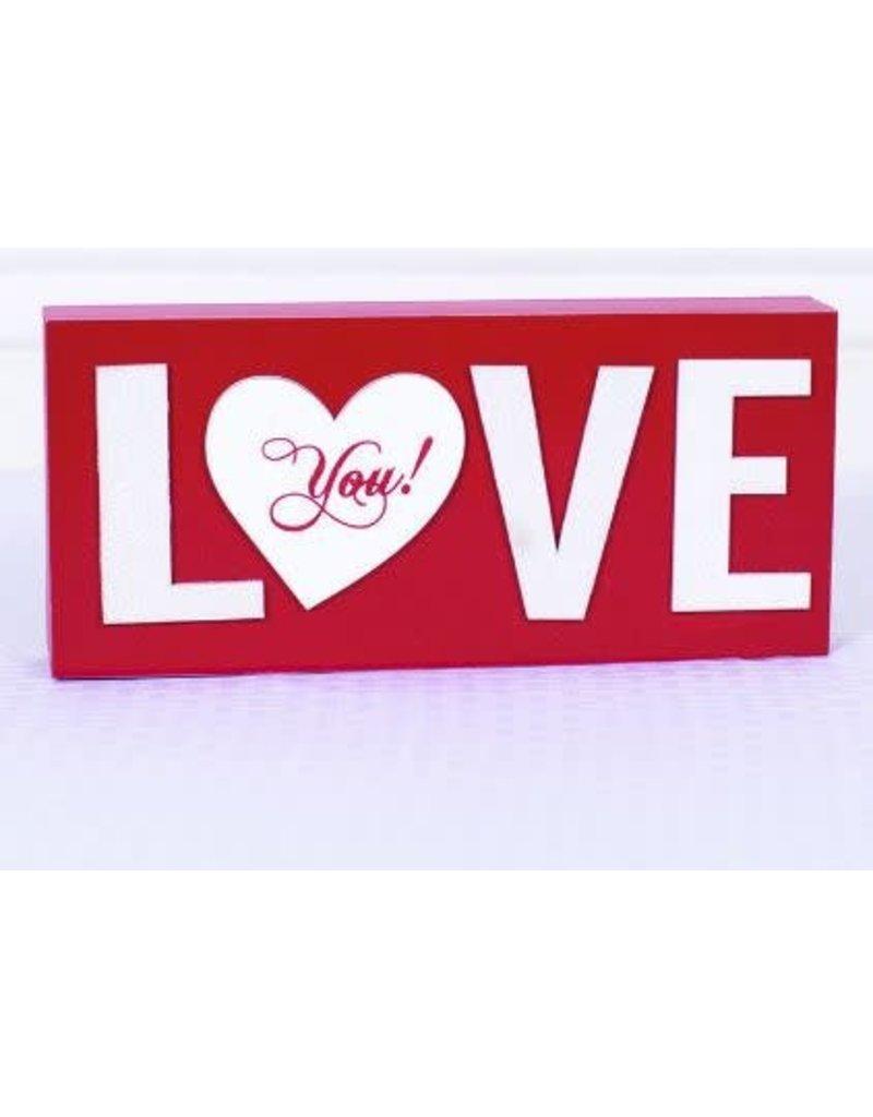 ADAMS & CO. LOVE Wood Sign