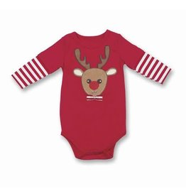 Bearington Collection Lil Reindeer Onesie (0-6m)