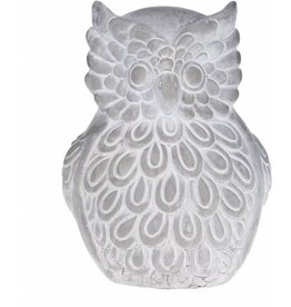 Home Essentials Cement Grey Embossed Owl