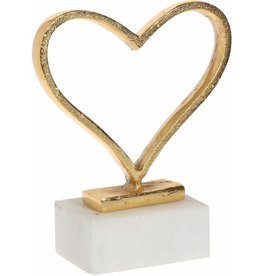 Home Essentials Large Gold Heart on Marble Base