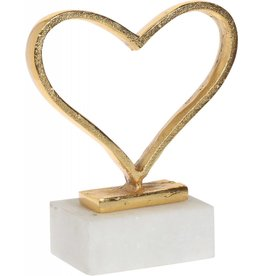 Home Essentials Small Gold Heart on Marble Base