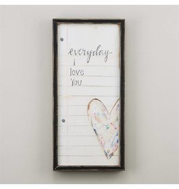 Everyday I Love You Framed Canvas