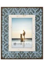 Malden 5x7 Blue Metal Tile Frame