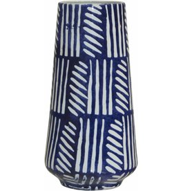 Home Essentials Modern Blue Hand Painted Vase