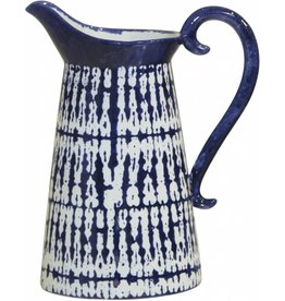 Home Essentials Modern Blue Hand Painted Pitcher