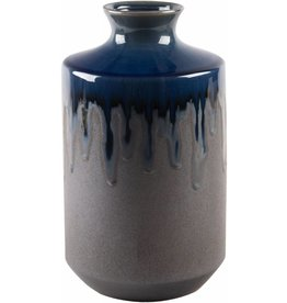 Home Essentials Indigo/Bronze Reactive Vase