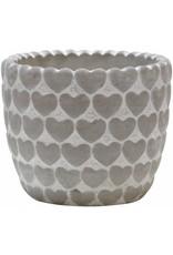 "Home Essentials 6x5""H Cement Heart Planter"