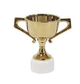 UMA ENTERPRISES INC. White/Gold Ceramic Trophy Stand