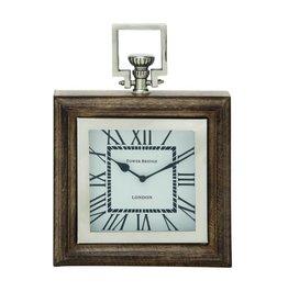 UMA ENTERPRISES INC. Wooden Steel Table Clock