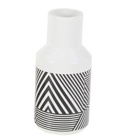 UMA ENTERPRISES INC. White Zebra Design Ceramic Vase