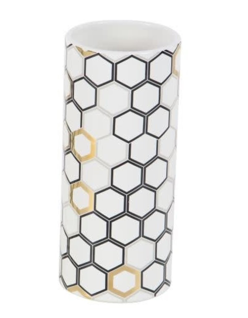 UMA ENTERPRISES INC. Beehive Design Ceramic Vase