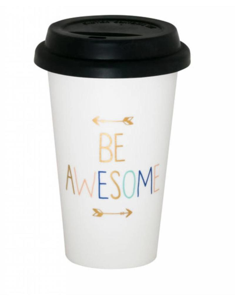 About Face Designs BE AWESOME Thermal Mug