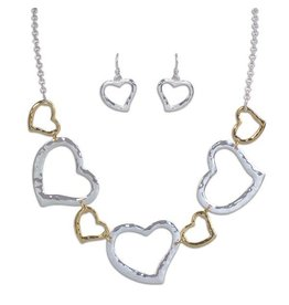 Periwinkle Set- Two Tone Hearts