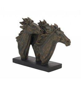 UMA ENTERPRISES INC. Horse trio sculpture