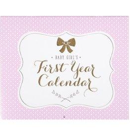 C R Gibson Sweet Sparkle Baby's First Year calendar
