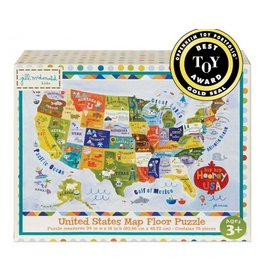 C R Gibson USA Map Floor Puzzle