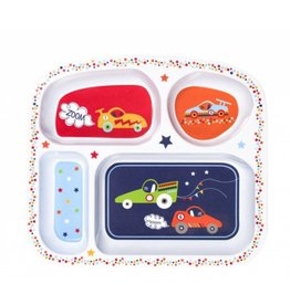 C R Gibson Zoom Zoom Melamine Divided Tray