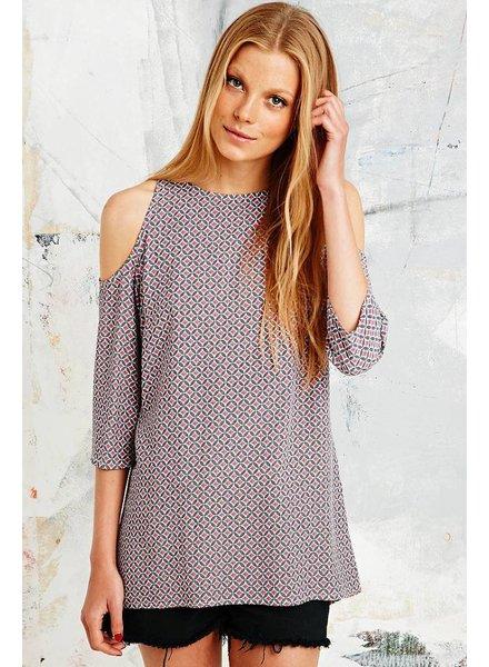 Open shoulder blouse