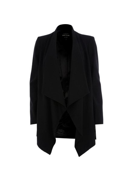 Black open coat