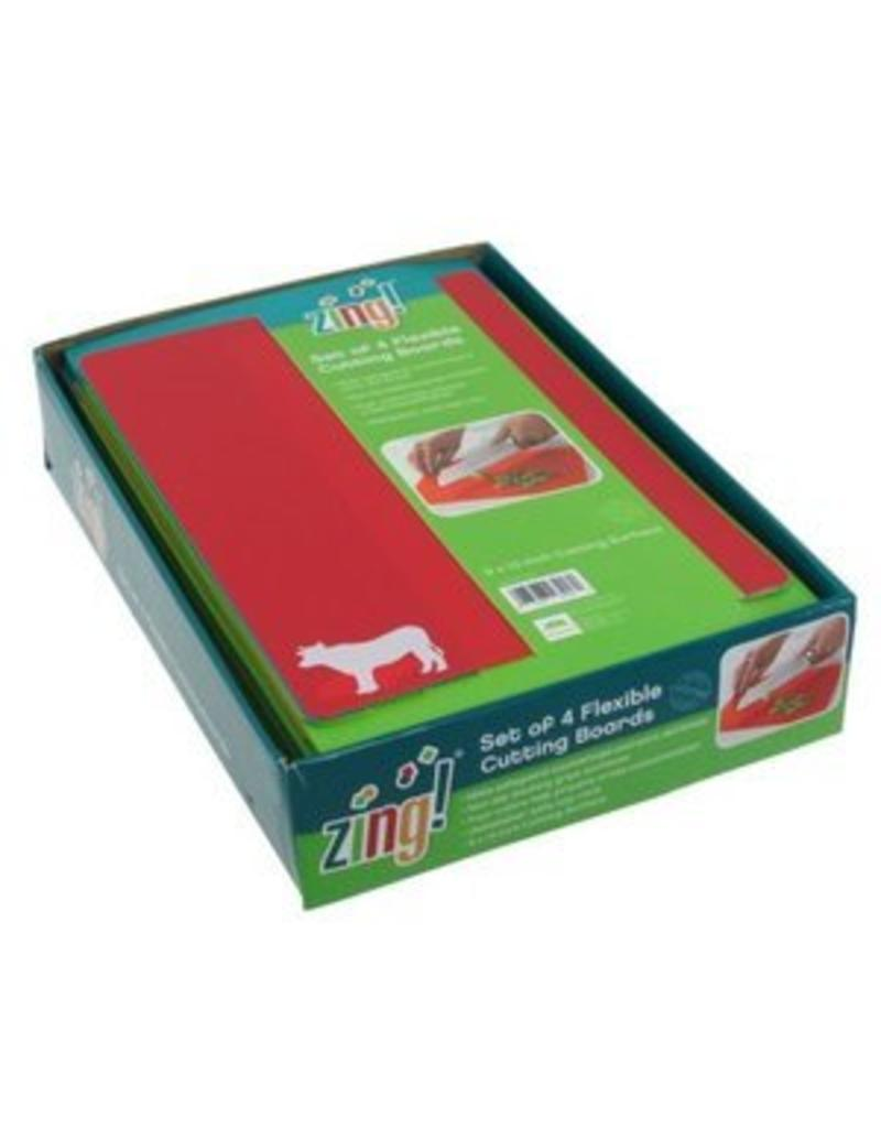 Zing Set of 4 Flexible Cutting Boards