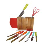 12 pc Solid Colors Silicone Fiesta Cutlery Set