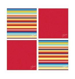 Thirstystone Multi Stripe/Scarlet 4 pc Coaster Set