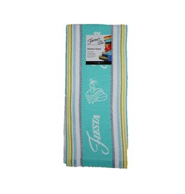 Fiesta® Stripe Kitchen Towel Turquoise