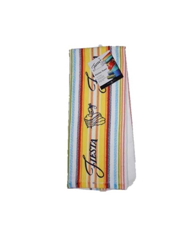 Fiesta® Stripe Kitchen Towel Sunflower
