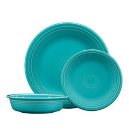 The Homer Laughlin China Company 3 PC Classic Set Turquoise