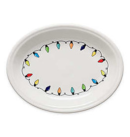 The Homer Laughlin China Company Oval Platter Fiesta Lights