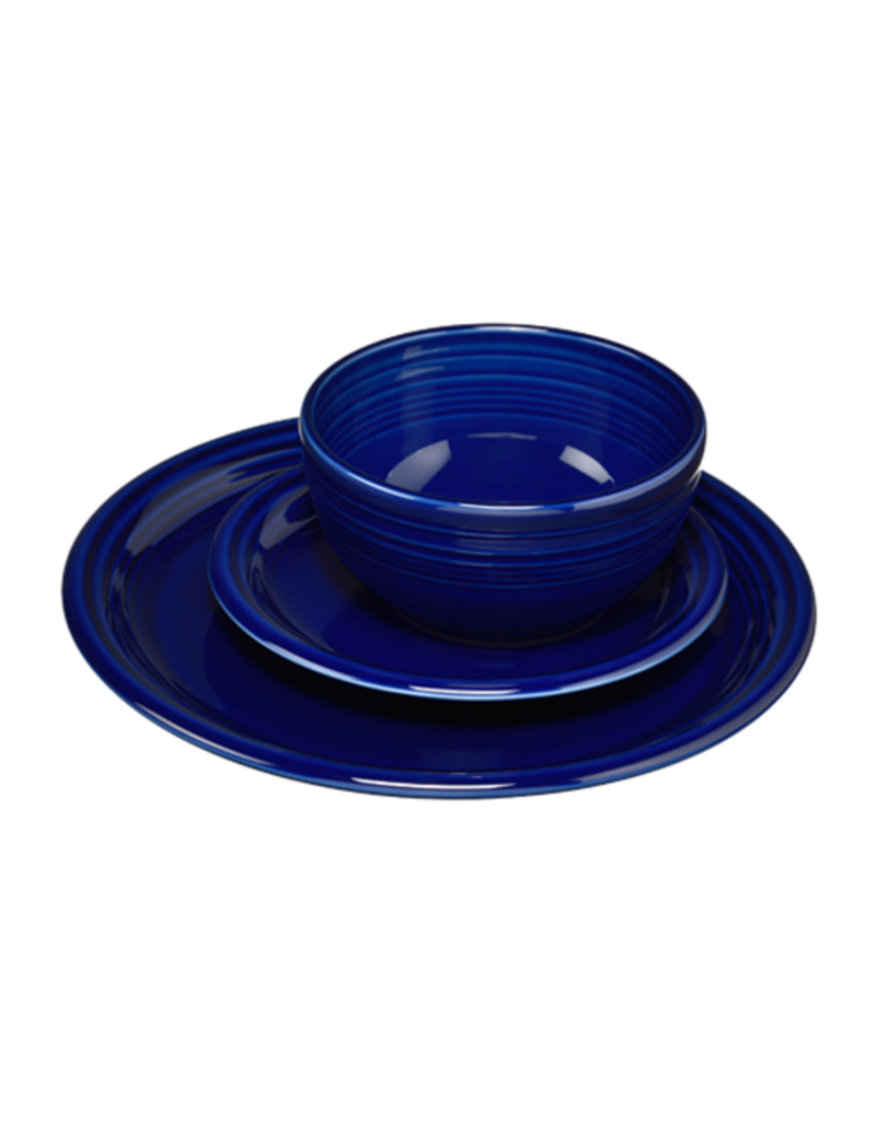 The Homer Laughlin China Company 3 pc Bistro Place Setting Cobalt Blue
