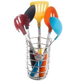 Fiesta® Multi Color 6 pc Utensil Set with Crock